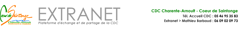 Extranet CDC Coeur de Saintonge